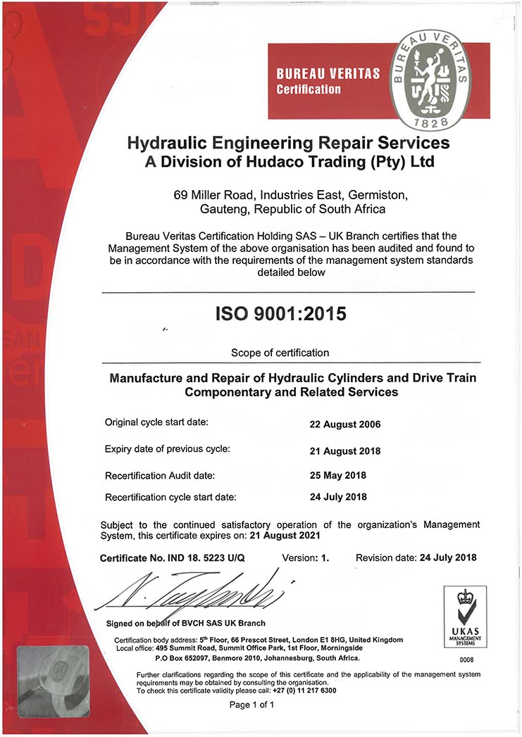 HERS - ISO 9001-2015 certificate